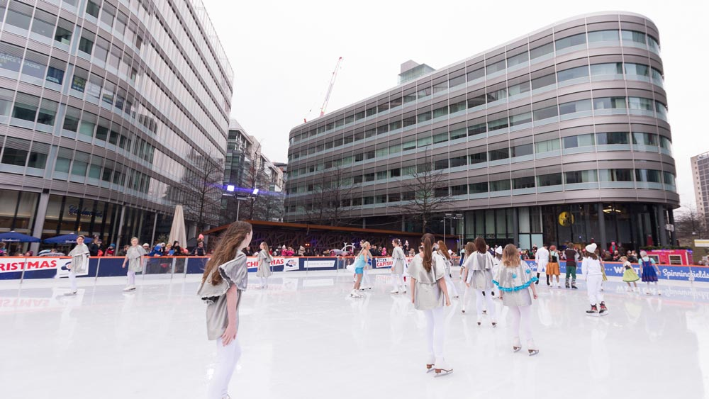 ice skating spinningfields