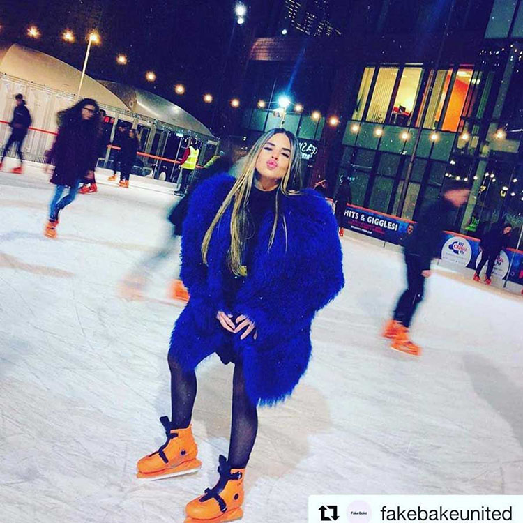 Jess Flanagan at Manchester Ice Rink
